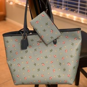 Coach Reversible City Tote and Wristlet